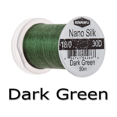 Semperfli Nano Silk 18/0 Dark Green