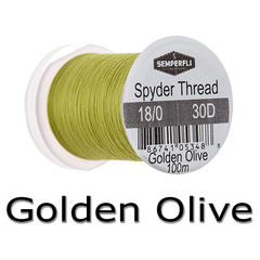 Semperfli Spyder Thread Golden Olive