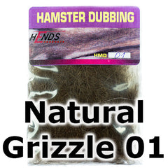 Hends Dubbing Hamster  Natural Grizzle 01