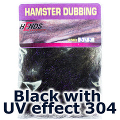 Hends Dubbing Hamster Plus  Black with UV effect 304
