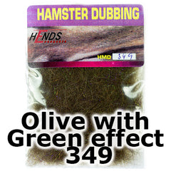 Hends Dubbing Hamster Plus  Olive with Green effect 349