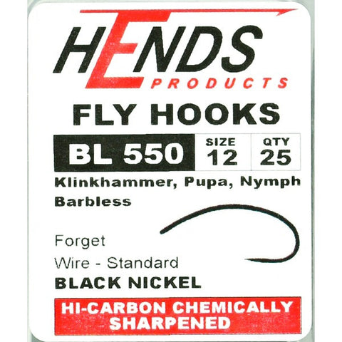 Hends BL 550 Barbless Klinkhammer Hooks