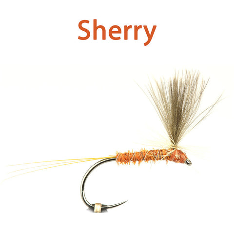 Sparse Hackle Parachutes, sherry