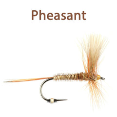 CDC Winged Hackled Dries, pheasant