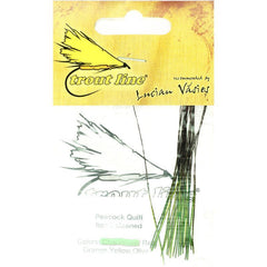 Peacock Quill hand stripped Chartreuse