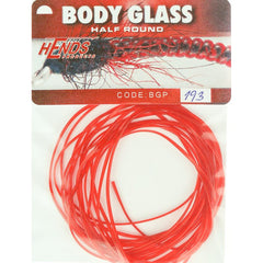 Hends Body Glass Half Round Red