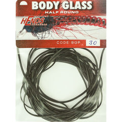 Hends Body Glass Half Round Black