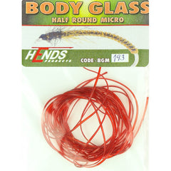 Hends MICRO Body Glass Half Round Red