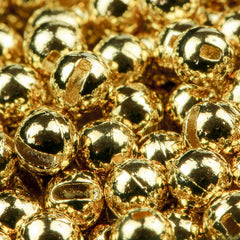 Small slot tungsten beads gold coated
