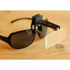 Clip on Magnifier for Cap or Glasses