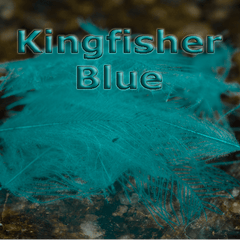 Chevron Hackles CDC  Kingfisher Blue