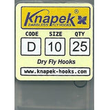 Knapek Barbless Dry Fly Hooks (D)