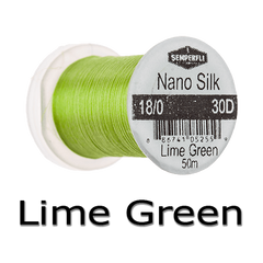 Semperfli Nano Silk 18/0 Lime green