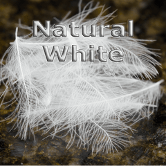 Chevron Hackles CDC  Natural White
