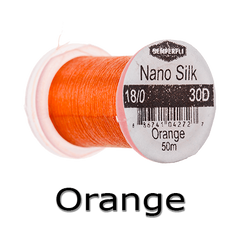 Semperfli Nano Silk 18/0 Orange
