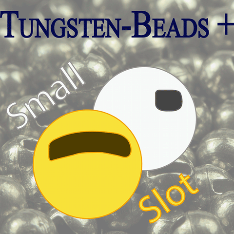 Small slot tungsten beads