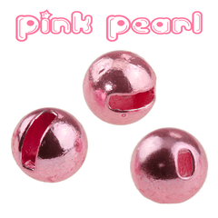 Pink Pearl Metallic Small Slot Tungsten Beads
