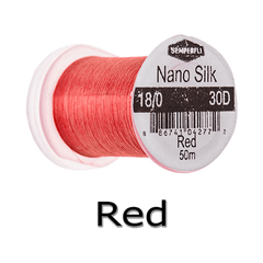Semperfli Nano Silk 18/0 Red