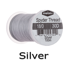 Semperfli Spyder Thread Silver