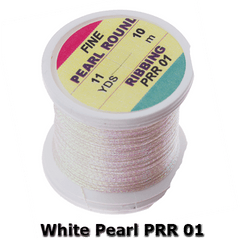 White Pearl PRR 01 Hends Fine Pearl Round Ribbing