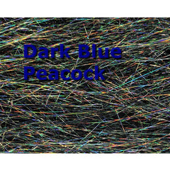 Holographic Angel Hair - dark blue peacock