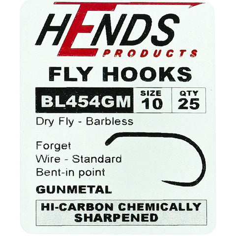 Hends Barbless Dry Fly Hooks BL 454 GM