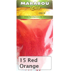 Hends Marabou red orange