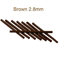 Micro Foam Cylinders Brown 2.8mm