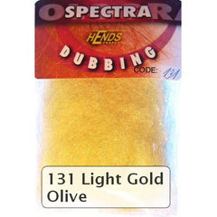 Hends Spectra Dubbing Packets Light Gold Olive