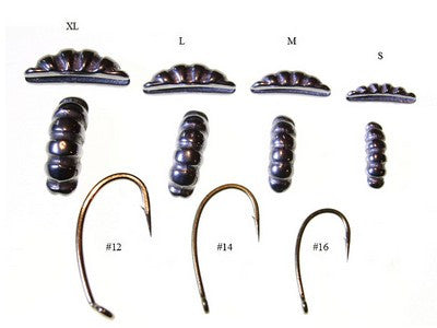 Tungsten Shrimp hook size guide