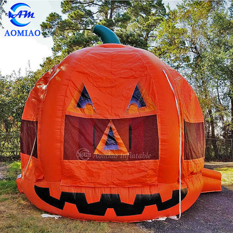 Pumpkin Bouncer Castle Inflatable Jumping Castle For Halloween AMBC1-2