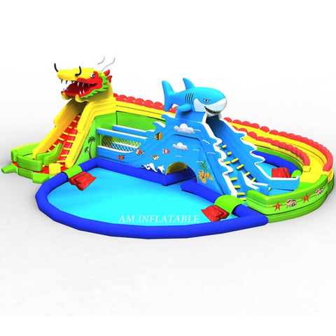 Commercial Outdoor Inflatable Water Park AMWP4