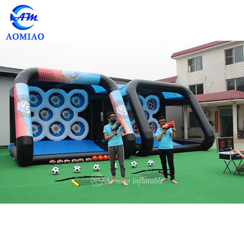 Inflatable Combi Sport Arena With IPS Shooting Game AMIPS 1