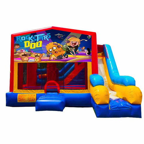 Rock Stars Bounce House With Slide