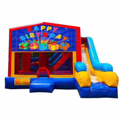 Happy Birthday Bounce House With Slide