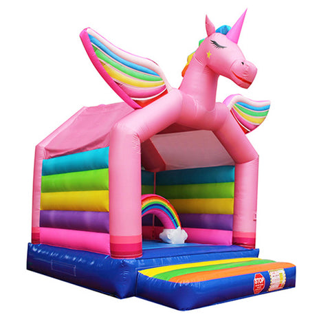 Rainbow Unicorn Bounce House