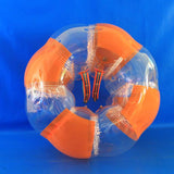 Striped Orange Inflatable Bubble Soccer