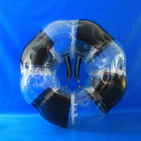 Striped Black Human Bubble Ball Soccer