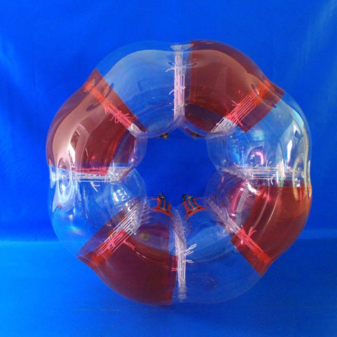 Striped Red TPU Bubble Soccer