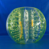 Striped Yellow Bubble Zorb Football