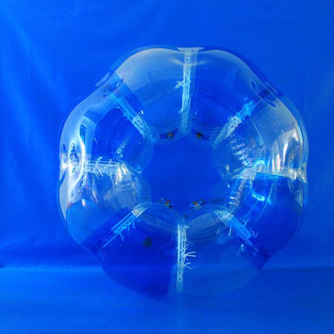 Striped Blue Inflatable Bubble Football