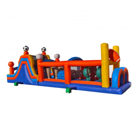 50ft Inflatable Sports Obstacle Course