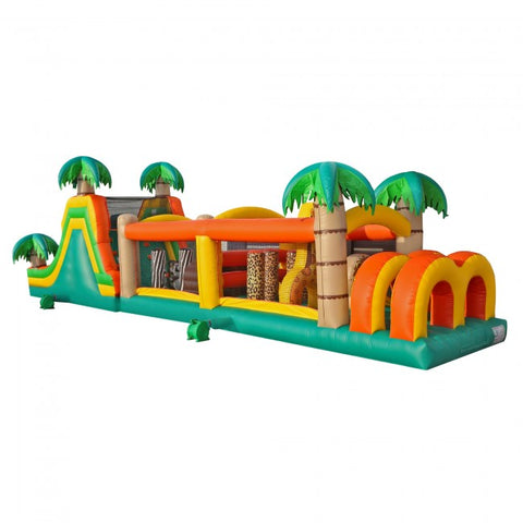 50ft Inflatable Tropical Obstacle Course