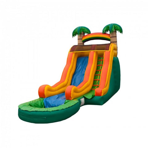 Tropical Wave Inflatable Water Slide