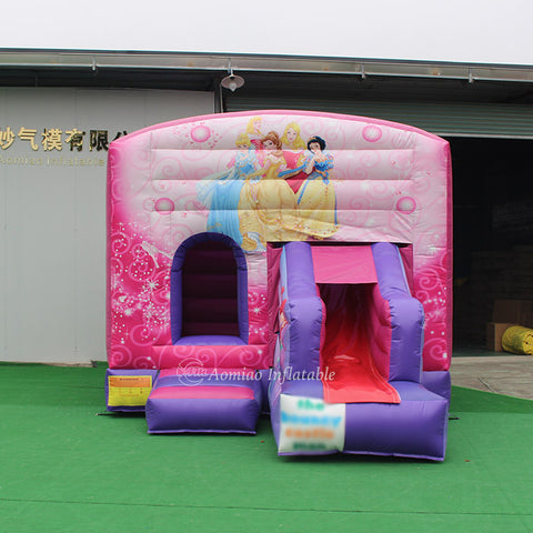 Inflatable Princess Bouncy Castle Slide AMBC0030