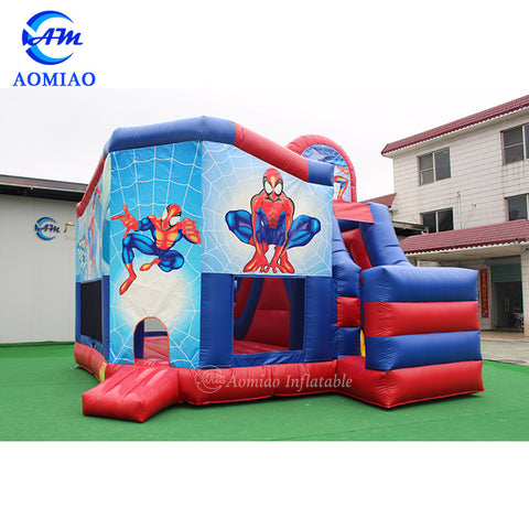 Inflatable Spiderman Bouncer Castle Slide AMBS1