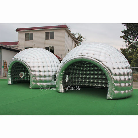 LED Camping Tent  Silver Inflatable Dome  Tent AMIT0012