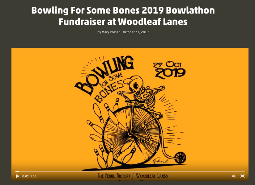 Bowling For Some Bones 2019 Bowlathon Fundraiser at Woodleaf Lanes