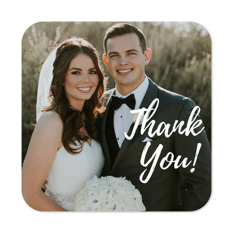Thank your guests with a personalised magnet printed with a pic from your special day