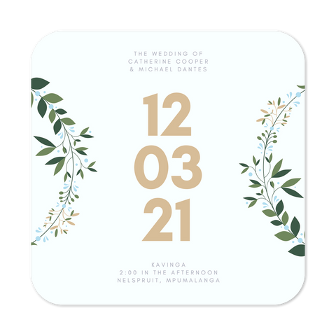 Save the Date Personalised Magnets